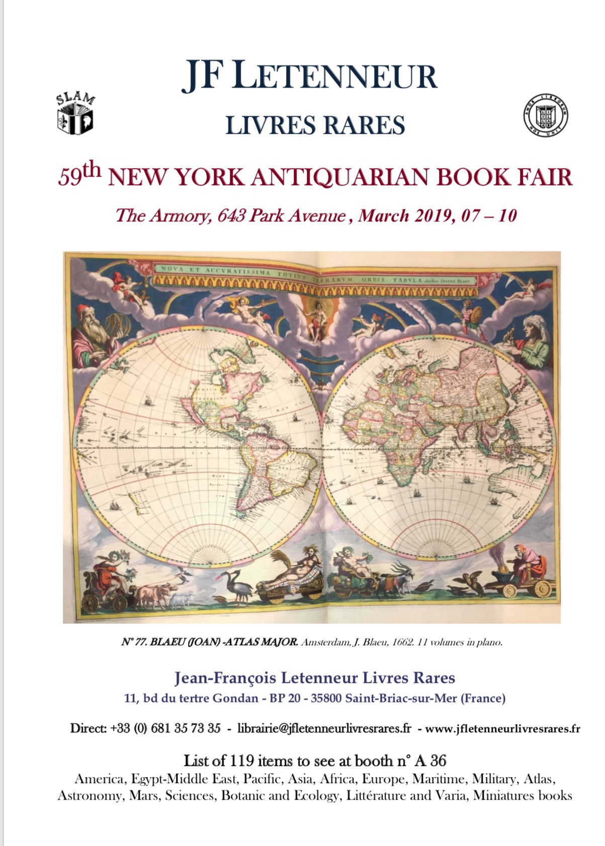 Liste New York Antiquarian Book Fair 2019